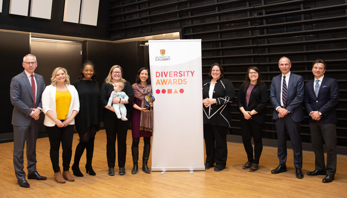 CV&Me members receive UCalgary Equity and Diversity award